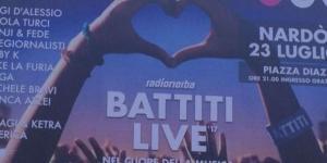 Battiti Live Nardò 2017: i cantanti attesi per l'evento del 23 luglio 2017.