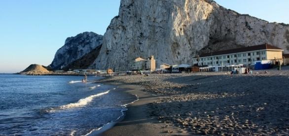 View of the Rock of Gibraltar, on the eastern Mediterranean coast- Gibmetal77 via Wikimedia Commons.