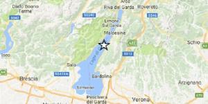 In figura l'epicentro del terremoto