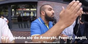 Napastliwy muzułmanin w starciu z Polakiem (źródło: youtube.com).