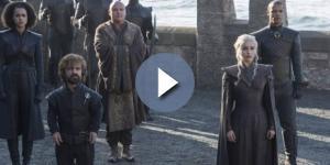 Daenerys e seus aliados em Dragonstone