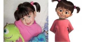 Pessoas muito parecidas com personagens de desenhos (Foto: Reprodução)