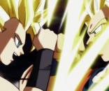 Caulifla vs Goku in 'Dragon Ball Super' (via YouTube - AresPromo)