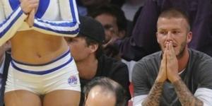 David Beckham estava dando aquela espiadinha
