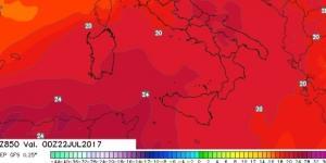 La nuova onda di calore attesa da meta settimana