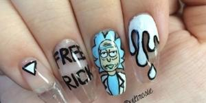 Nail art shared by fan on imgur.com