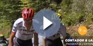 Contador all'attacco con Landa