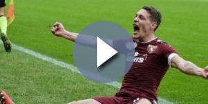 L'esultanza dell'attaccante Andrea Belotti, probabile acquisto del Milan