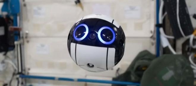 Video from Japan's first camera drone in the ISS shows how it assists astronauts