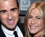 Justin Theroux com a esposa Jennifer Aniston (Foto: Getty)