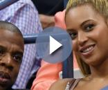 Beyoncé et son mari Jay Z pendant l'US Open 2016 au USTA Billie Jean King National Tennis Center