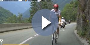 Alberto Contador all'attacco sulla Croix de Fer