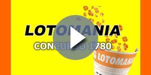Resultado do sorteio da Lotomania nesta terça-feira (18), pelo concurso 1780