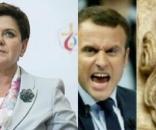 Premier Beata Szydło vs Macron (foto: onet.pl)