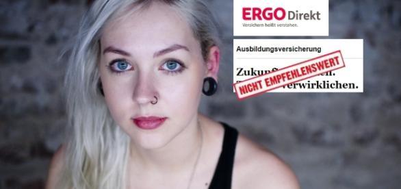 Jugendliche brauchen Absicherung, aber weniger die Ausbildungsversicherung der Ergo Direkt / Fotos: Theresa Tietz, Ergo Direkt, YouTube (Montage)