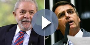 Lula e Bolsonaro em montagem feita pelo jornal O Globo