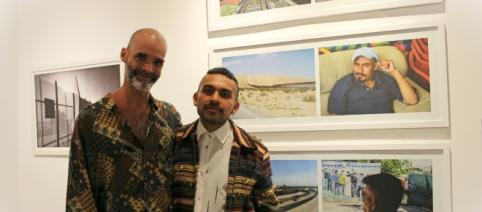 Los artistas Gabriel Brito y Ernesto Moralbaut.