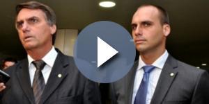 Deputados federais Jair Bolsonaro e Eduardo Bolsonaro (Foto: Reprodução)