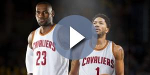 LeBron James and Derrick Rose - screenshot YouTube.com