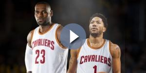 LeBron James and Derrick Rose - screenshot YouTube.com