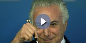 Michel Temer está sendo acusado de corrupção