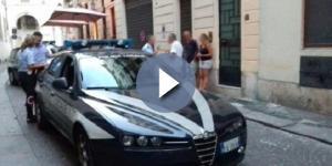 Una foto dell'intervento della Polizia municipale pubblicata da 'Il Giornale di Vicenza'.