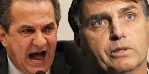 Pastor Malafaia e deputado Bolsonaro.