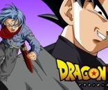 Ilustración de Goku Black y Trunks del futuro.