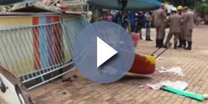 Brinquedo quebra no Parque Mutirama e deixa vários feridos, em Goiânia. ( Foto: Reprodução)