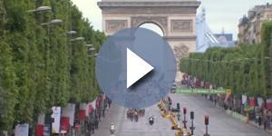 Il Tour de France sui Campi Elisi