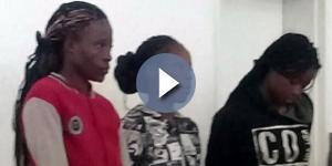 As detidas: Samdra Ncube, Riamuhetsi Mlauzi e Mongiwe Mpofu. (Foto: Reprodução)