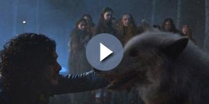 'Game of Thrones' deleted a Ghost scene. Screencap: Valar Morghulis via YouTube