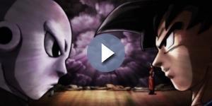 Goku y Jiren al final del episodio 100.