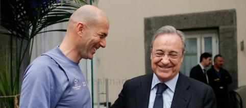 Zidane y Pérez preparan la plantilla para la próxima temporada