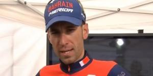 Vincenzo Nibali, leader del Team Bahrain Merida