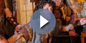Uriel é morto na invasão de Jerusalém (Foto: Reprodução/Record TV)