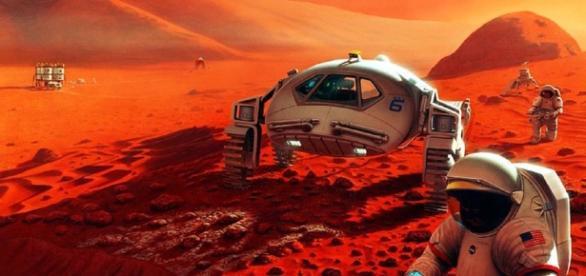 Humans on Mars: The Kilopower plants would provide energy for lunar bases and Mars habitats (NASA)