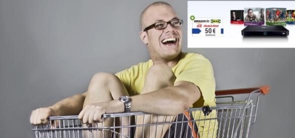 Sky Neukunden, die über GMX und Web.de buchen, bekommen einen 50 Euro Gutschein / Fotos: Maria Buchholz; GMX Werbung