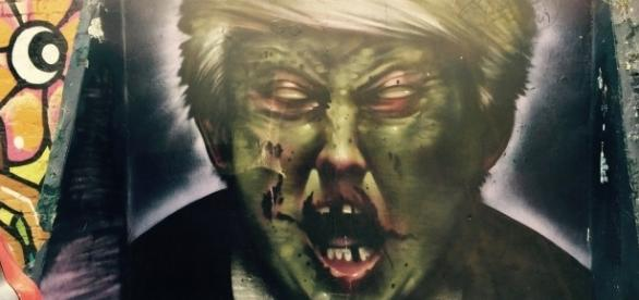Zombie Trump street art / [Image by Matt From London via Flickr, CC BY 2.0]