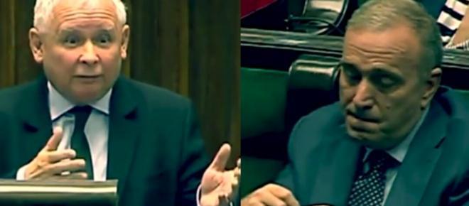 Jarosław Kaczyński stylowo upokorzył wściekłego Schetynę - mina bezcenna [WIDEO]