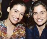 Renata Vasconscellos e sua irmã Lanza Mazza