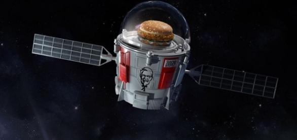 KFC launching a chicken sandwich into space   KFC/Twitter