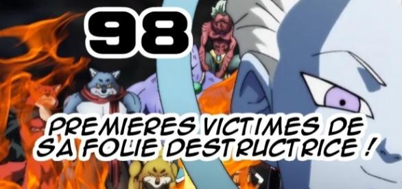 DBS 98 : Univers 9, premières victimes de la folie destructrice de Zeno & du grand prêtre ! (Dai Shinkan)