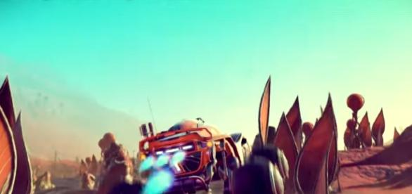 """A top secret document leaks the release date of 1.3 Update for """"No Man's Sky"""" Waking Titan ARG. credit image: Hello Games/YouTube"""