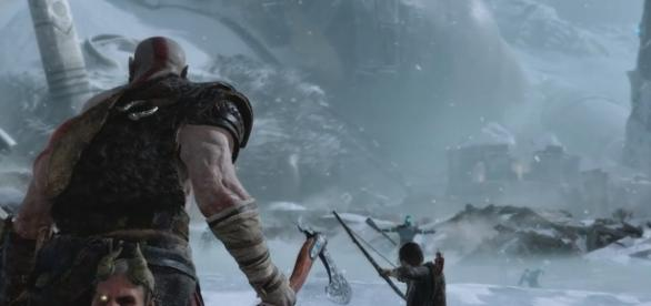 """""""God of War 4"""" is a PlayStation 4-exclusive title slated to arrive in early next year (via YouTube/PlayStation)"""