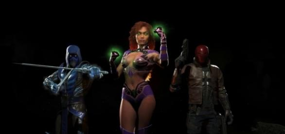 """Starfire is the third and final character in the """"Injustice 2"""" DLC called """"Fighter Pack 1."""" [Photo via YouTube/Injustice]"""
