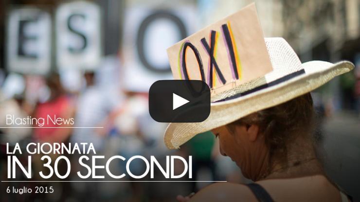 La giornata in 30 secondi - 06 luglio 2015