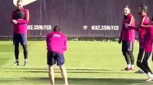 Magia di Leo Messi: ecco come prendere in giro un compagno di squadra