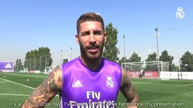 Sergio Ramos le pasa la factura del doblete a Florentino Pérez