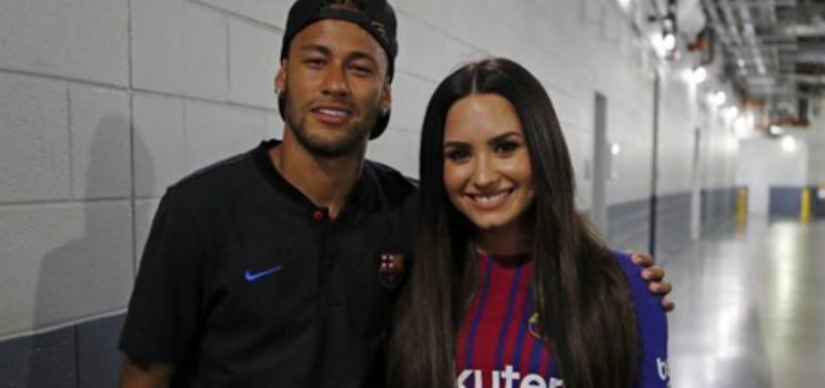 Neymar troca Marquezine por Demi Lovato? Flagrante impressiona